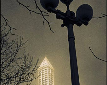 FOGGY SMITH TOWER, Seattle Pioneer Square, Clyde Keller photo