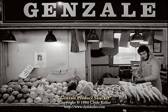Pike Place Market, GENZALE PRODUCE SHUCKER, Clyde Keller photo