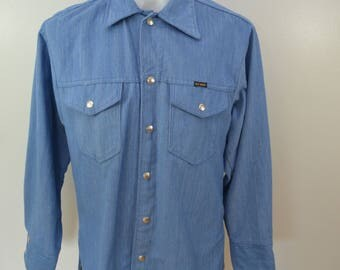 Vintage BIG YANK chambray style jacket 1970's usa