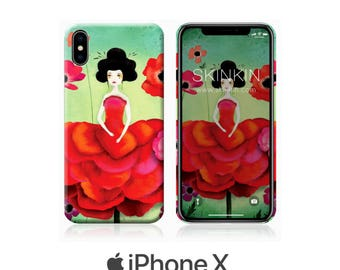 Phone Case - Anemone - iPhone 7 - iPhone 8 - iPhone X - Samsung Galaxy S8 - Samsung Galaxy S7 - Huawei P9