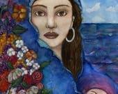Eirene Greek Goddess of Peace / Goddess Art  / gift for her  Gift for Her / wall and altar decor / Altar Art