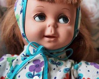 Vtg speaking&moving eyes doll