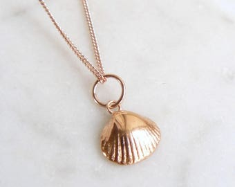 Rose Gold Tiny Shell Necklace