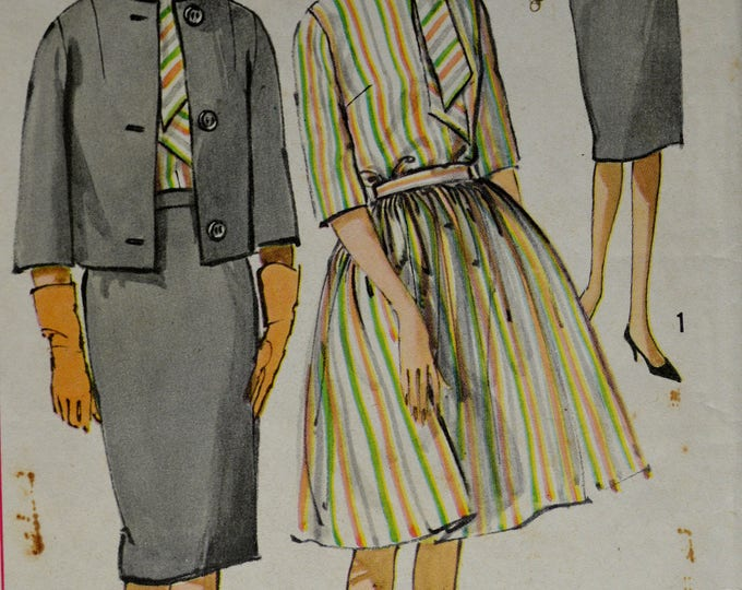 1950s Simplicity Dress Pattern, Suit Pattern, Shirt Pattern, Pencil Skirt Pattern, Women's Swing Skirt Pattern, Pattern, No 4190