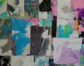 Original Abstract Collage Colorful