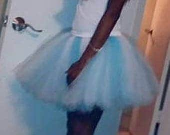 "Tutu skirt   15"" length or customize your length and waist, bridal tutu,bachelorette tutu,above knee,birthday tutu,marathon tutu,"