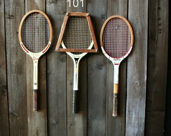 Choose A Vintage Tennis Racket Sold Separately Or Set of Three Vintage From Nowvintage on Etsy