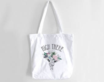Giraffe Tote Bag, Cute tote Bag, Giraffe Pun, Funny Tote Bag, Tote Bag, Pun, Beach Bag, Beach Tote, Canvas Tote, Grocery Bag