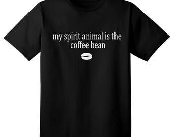Funny Tshirt - for the coffee lover, coffee bean spirit animal