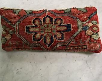 Vintage Kilim Pillow Antique Oriental Rug