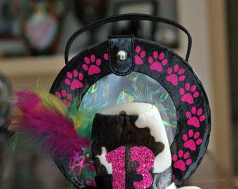 "Birthday Hat for dog -cat - Mad Hatter Birthday Hat (hat only) for pets with a 6-9"" neck size"