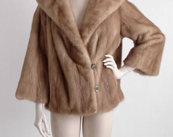 1960s autumn haze honey mink coat * vintage fur jacket * CT134