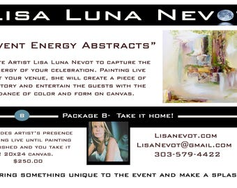 Energy Painting Live Events -Package B