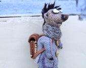 Felted hedgehog - Funny hedgehog