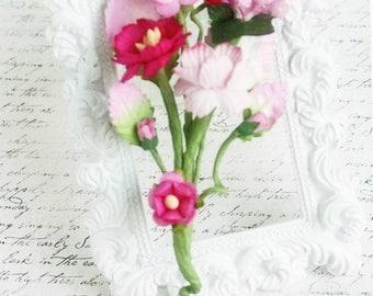 Berry Pink Handmade Vine Embellishments for Scrapbooking, Cardmaking, Mini Album, Altered Art,