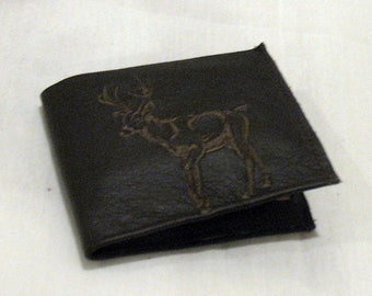 Man's leather wallet, brown leather wallet, leather wallet, bi-fold wallet, brown wallet, man's wallet, 2-bill pockets, 6 card pockets.