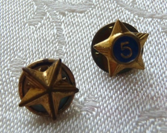 Vintage Boy Scouts of America Star Lapel Pins 2 Pc.
