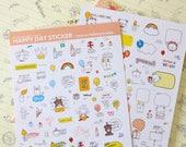 Happy Day Sticker - stick-on Talking Bubble