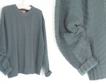 Texture Sweater * Cable Knit Pullover Sweater * Vintage 80s Sweater * Medium