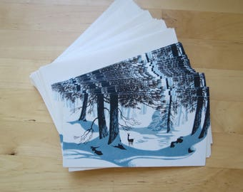 21 Midcentury Christmas Cards with Envelopes by American Greetings - 1950s 1960s UNUSED Holiday Card Lot