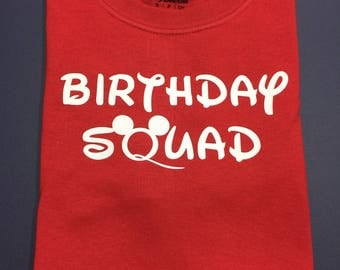 Disney Birthday Squad Tshirts - Adult, Youth, Toddler & Infant Sizes Available