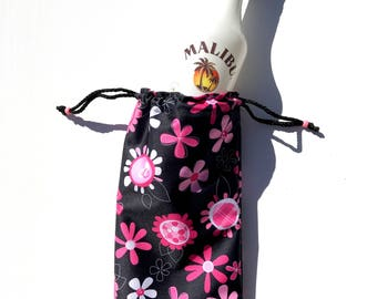 NEW Wine Wet Bag Waterproof - Flowers in Pink