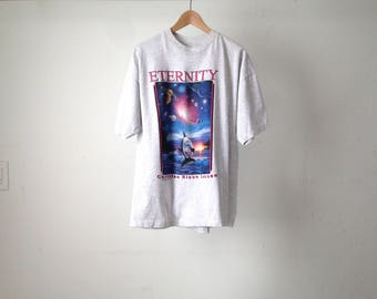 vintage DOLPHINS in OUTER SPACE huge xl oversize new age t-shirt