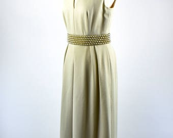 1960's Long Evening Dress by Imperial Designs - Division of Fred Rothschild, Size 10, Made in Hong Kong