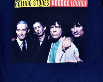 Rolling Stones 1994 VooDoo Lounge USA Tour T-Shirt by Brockum, Size XL, Made in the USA