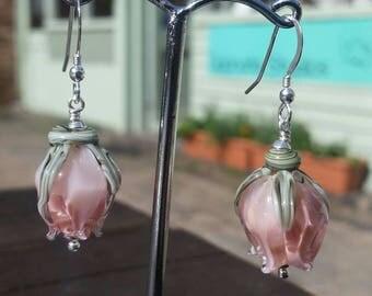 Little Pink Rosebud Earrings