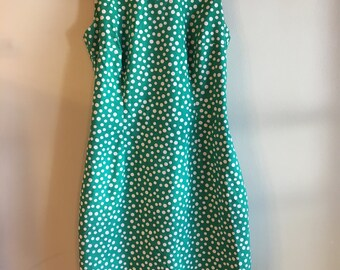 Vintage Quirky Green Polka Dot Dress