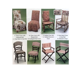 Easy Chair Cover Pattern Seat Pad Cover DIY Chair Pad Simplicity 5952 Home  Decorating Sewing Pattern