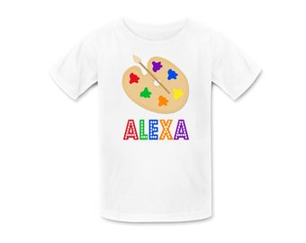 Art Birthday Shirt or Art Birthday Shirt, Personalized Art  Tshirt, Personalized Birthday Shirts, Art Birthday Party