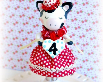 y Cake Topper,Farm Animals Cake, First Birthday Girl, Farm Baby Shower, Cow Cake Topper, Cow 2nd Birthday,  Farm Cake Topper, Cow Birthda