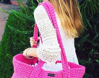 Bohemian Bag Crochet Pattern, Tote Bag Crochet Pattern, Beach Bag, Boho Bag, Purse Crochet Pattern, Womens Fashion Bag, Breckland Bag, Tote