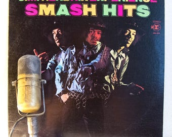 "ON SALE Jimi Hendrix ""Smash Hits"" Vinyl Record Album LP 1960s Classic Rock and Roll Guitar (1978 Re-Issue w/ ""Purple Haze,"" ""Hey Joe,"" ""Foxe"