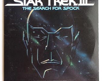 VERY RARE Star Trek III: The Search For Spock Vinyl Soundtrack - Very Good Condition - Coming with Original Movie Theater Program ~ 1984 ~