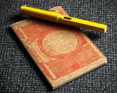 Vintage Camera Notebook - Moleskine Kraft Notebook Screenprinted with an Orange Camera (Canon AE-1)