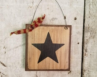 Primitive Country Star, Rustic Star, Painted Black Star, Country Primitive  Decor, Country