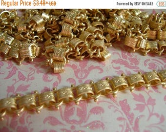 ON SALE Repurpose Vintage Reproduction Book Chain Matte Gold plated Top Quality Design