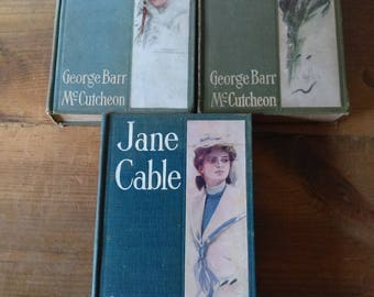 Collection of Antique Books by George Barr McCutcheon - Gray Green Blue