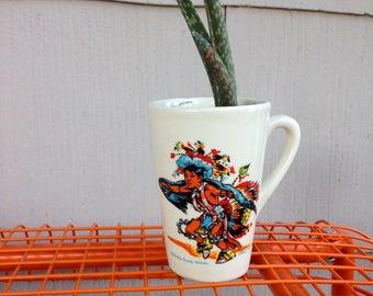 Aloe Vera plant in vintage mug