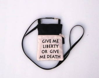 Give Me Liberty Phone Purse or Water Bottle Purse