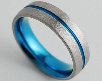 Titanium Ring , Wedding Band , Mens Titanium Wedding Band , Mens Titanium Wedding Ring , Promise Ring , The Orion Band with Comfort Fit
