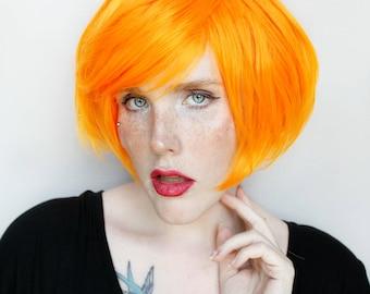 SALE Short Orange wig | Orange Bob wig, Cosplay wig, Halloween wig | Pumpkin Orange wig, Scene wig, Halloween Costume | Jack O Lantern