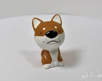 Hand Sculpted Japanese Shiba Inu Dog Derp Figurine