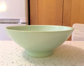 Mint Green Plastic Dinnerware Bowl, 1950s Minty Green Boontown Dinnerware