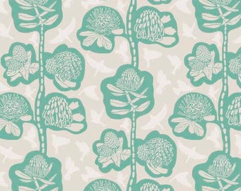 Anna Maria Horner Fabric, Sweet Dreams, REMAINS in Seafoam, Shabby Chic Fabric, Floral Fabric, Cotton Fabric, Quilt, Quilting, By the Yard
