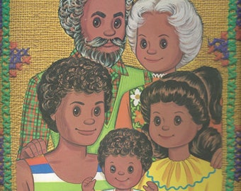 Vintage Happy Family Paper Doll Book, C1977