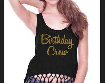 Birthday crew Shirt, Birthday crew Tank, Birthday Girls Entourage, Birthday Shirt, Birthday Entourage Bling Shirt, Birthday squad, birthday